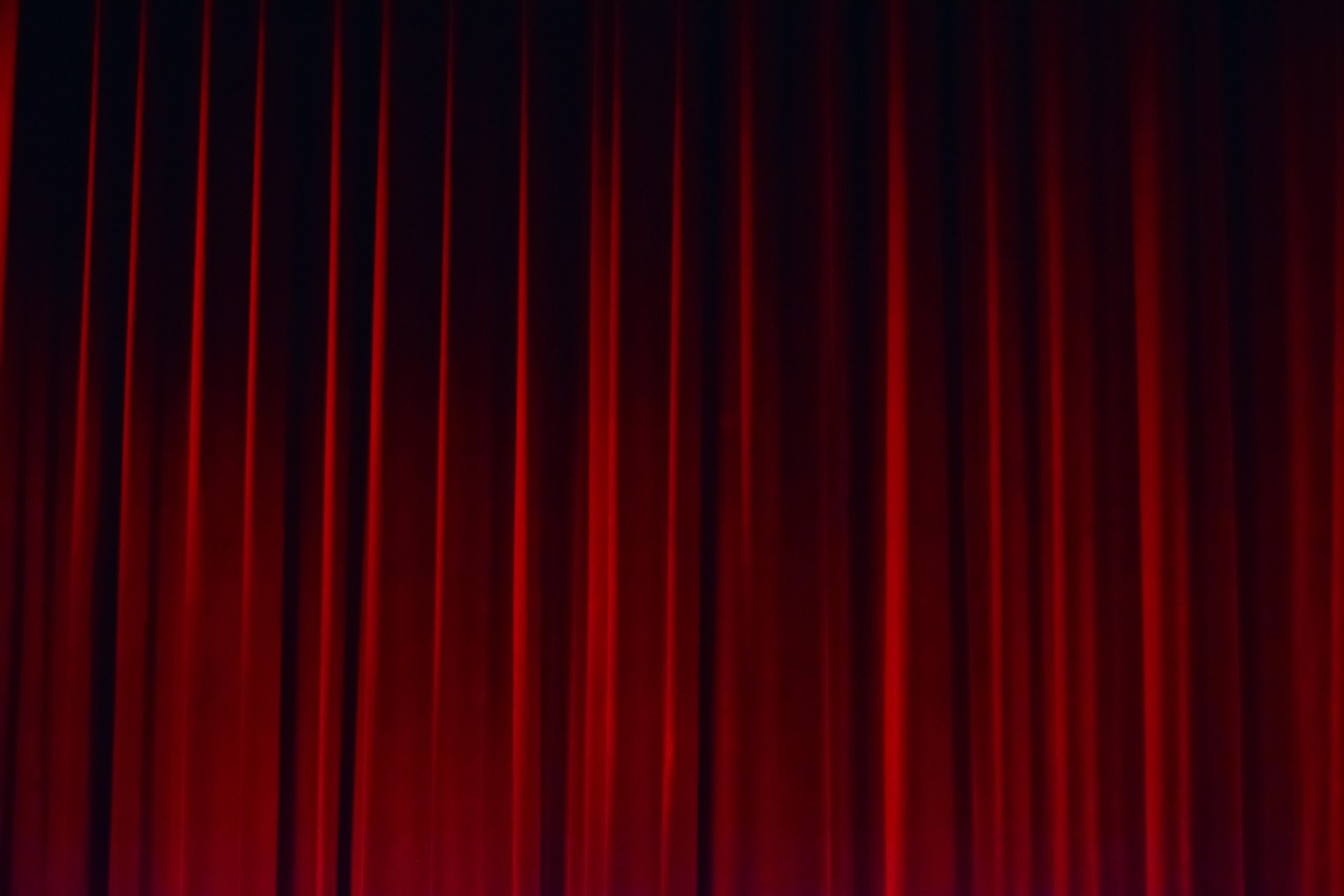 Background red curtain theatre stage
